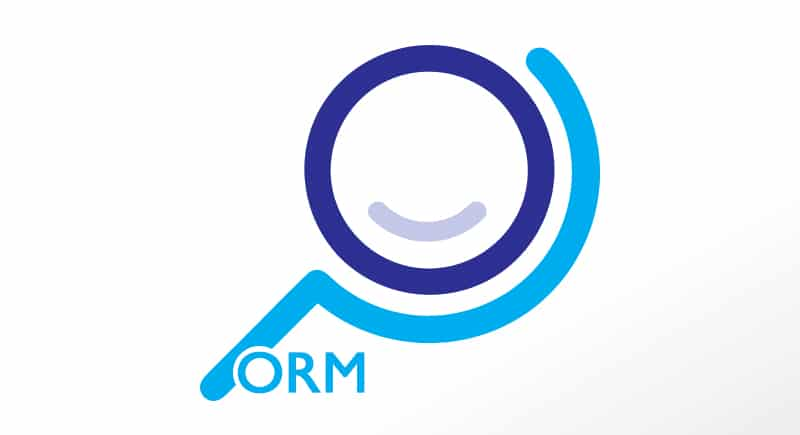 medium online performance blue logo with orm