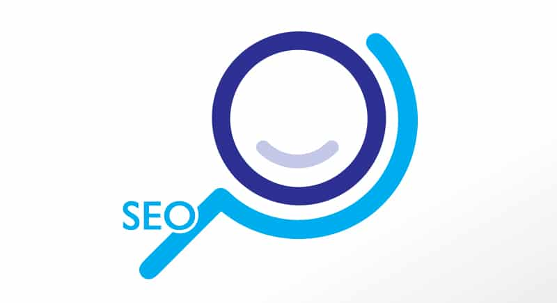 blue online performance logo with seo