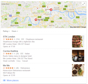 restaurants near me Google Local